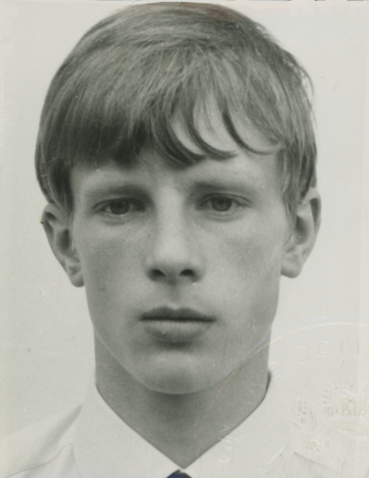 Passport photo at 16