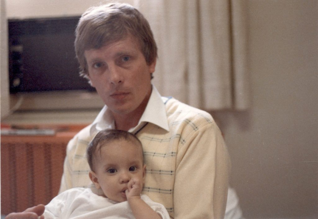 Sian and Ken at the Montreal Children's Hospital - 1985